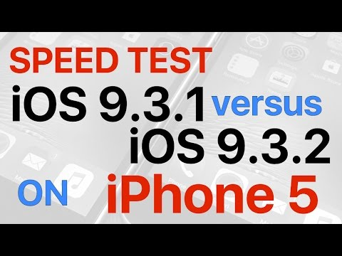 iPhone 5 : iOS 9.3.1 vs iOS 9.3.2 Final Release Build 13F69