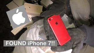 FOUND iPHONE 7 RED!! DUMPSTER DIVING AT APPLE STORE!! SECURITY CHASED US!!