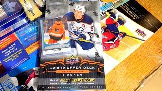 18/19 Upper Deck Series 1 Hockey Hobby Box Break