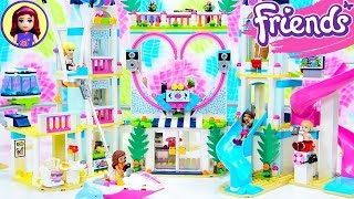 Lego Friends Heartlake City Resort Part 1 - Beach Hotel Speed Build Review