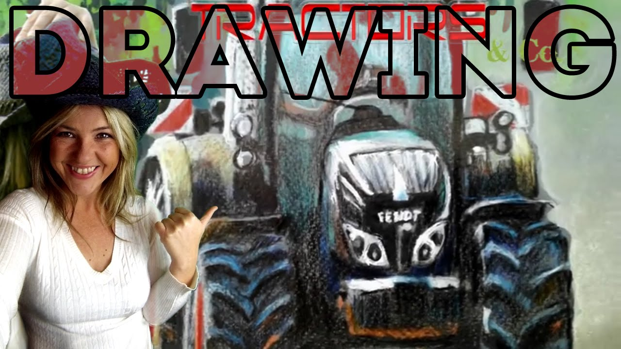 Speed drawing of a tractor fendt 720 youtube for Raumgestaltung tu kl