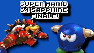 Super Mario 64 Sapphire 100% - FINALE! (Torchlight Temple & Final Boss) - N64 Romhack
