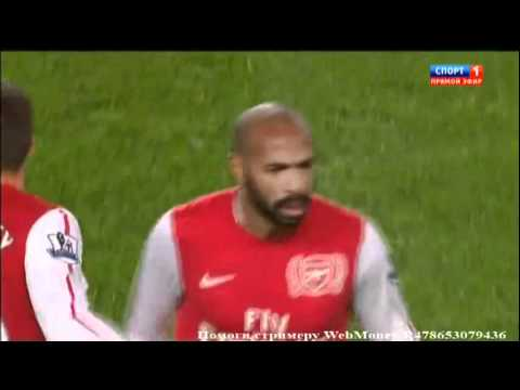Thierry Henry First Goal After Comeback Arsenal - Leeds United 1-0 (9 01 2012) video