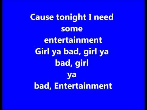 Sean Paul- Entertainment Remix. Lyrics On Screen video