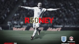 Wayne Rooney - All 50 goals for England (new record) [second version]