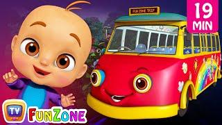 Wheels On the Bus - Dino Land, ABC Song Kids Videos | ChuChu TV Funzone 3D Nursery Rhymes for Baby