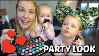 FEEST MAKE-UP LOOK MET DE ZUSJES ❤ tutorial | Bellinga FamilieVloggers #1223