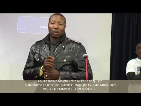 Cousin d'Alain Moloto  Frère Ali Parle de qui été  Alain Moloto en direct de Bruxelles