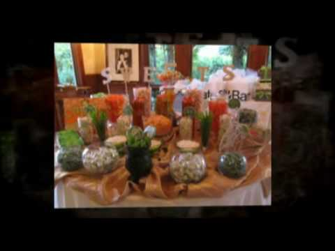 Orange Green Gold Wedding Candy Buffet Bar Favors 0104