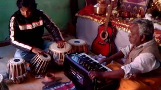 Garhwali bhajan At Tample By Shiv Sagar Ji Maharaj Tabla By Amit Sagar LIVE