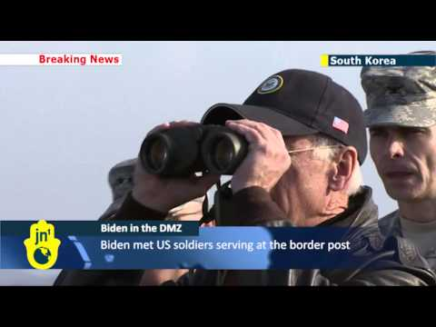 Biden in the DMZ:US vice president visits Korean peninsula militarised zone