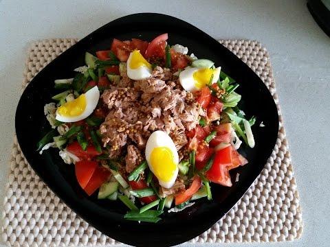 Очень вкусный салат из тунца с китайской капустой