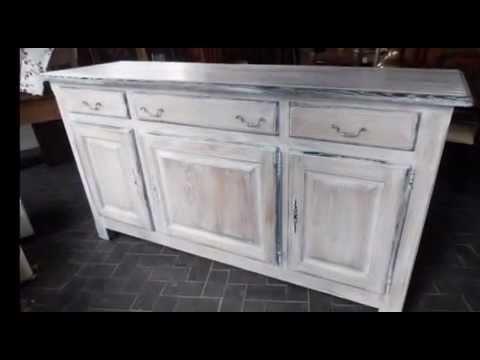 Photos avant vaisselier for Lasurer un meuble