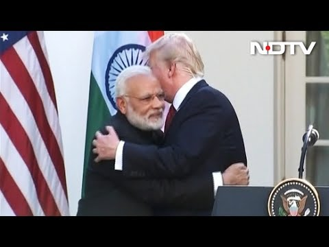 Modi, Trump Hug After Joint Statement