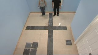How to Tile a Floor: Where to place first tile on floor