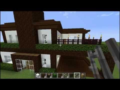 Como Construir una Casa Moderna [Parte 2] - Minecraft 1.7.4 y 1.7.5   en Español 2014 HD