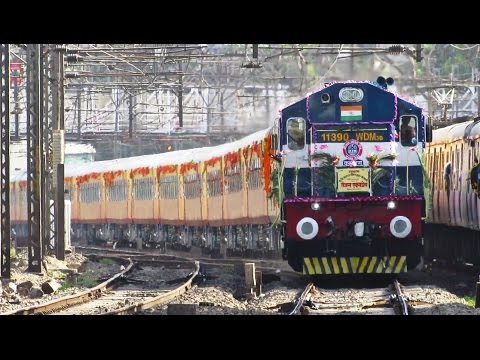 India's Semi High Speed Train   TEJAS EXPRESS Inaugural Run - Indian Railways !! thumbnail