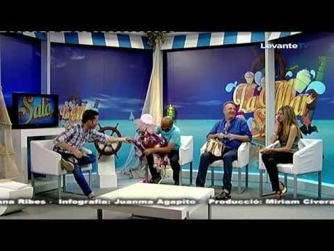Ventrilocuo Germán y Cayetana. Veraneo en la playa. Levante TV. La Mar Salá.