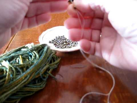 Stringing Beads on Yarn Stringing Beads Onto Yarn For