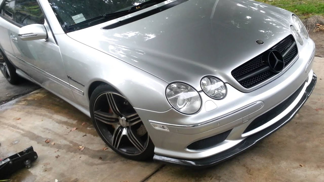 Cl55 amg custom hand formed triple meshes lower airdam for Mercedes benz grills