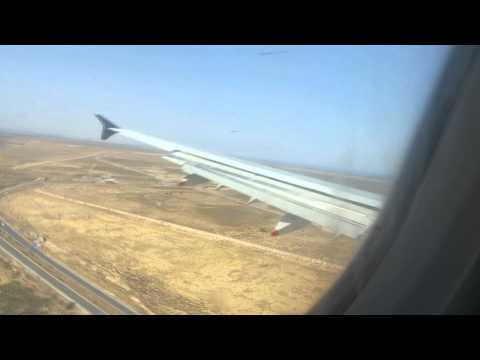 Nouvelair Airbus A321 -heavy crosswind- Landung in Enfidha von Dresden [TS-IQB]