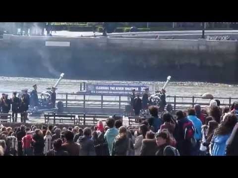 PRESIDENT Michael D Higgins 41 Gun salute at the Tower of London April 8 2014