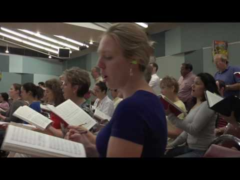 Sandstrom Messiah in rehearsal