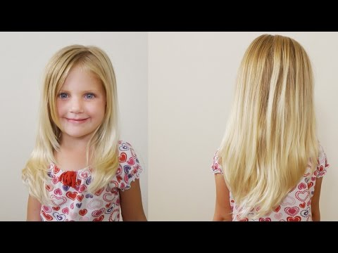 How To Cut Girls Hair Long Layered Haircut For Little Girls