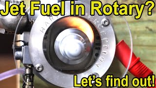 Jet Fuel in See-Thru Rotary Engine? Let's try it!