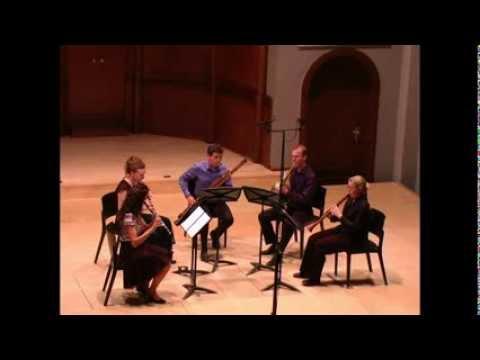 LHarmonie Nouvelle plays Mengal quintet after Haydn 2nd movement...
