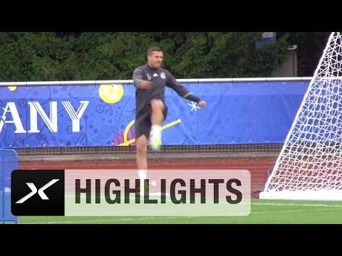 Lukas Podolski kopiert Cristiano Ronaldo   Deutschland   Portugal   EM 2016