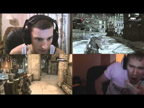 Food Challenge - Gears of War 3 Dual Video Commentary w/ LikeButter HOT CHILLI POWDER