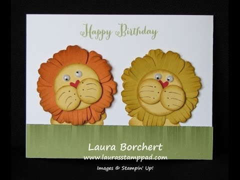 Little Lion Punch Art - Laura's Stamp Pad video
