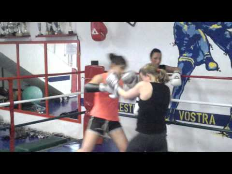 Sparring day combat sports University of Fighting - Chiara Laurora e Barbara Fettolini 09042016