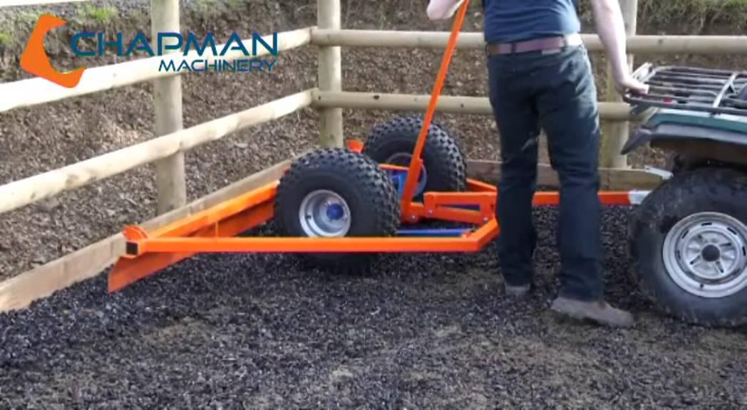 Herse de carri re youtube - Niveler un terrain pour pelouse ...