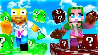 RACE OF LUCKY BLOCKS GREEN ACID VS POO IN MINECRAFT 🏃😱