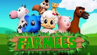 Animal nursery rhymes | Kids songs | Preschool videos for children by Farmees