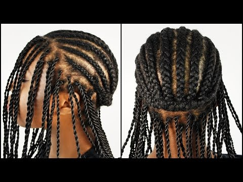 Cornrow Patterns For Crochet Box Braids : Ghana Braids / Invisible Cornrow Braids Hairstyle Tutorial Part 1 ...