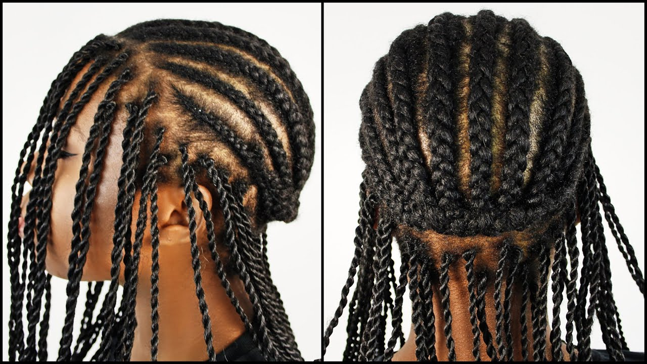 Jamaican rope twist braids