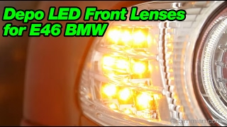 Depo LED Front Lenses for E46 BMW