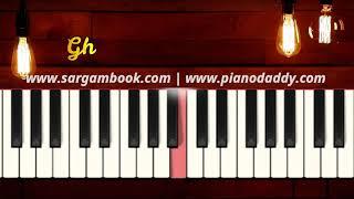 Ghar More Pardesiya (Kalank) Harmonium Lesson + Sargam Notes