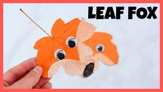 Fox Leaves Craft - Fall crafts for kids