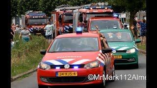 Grote optocht van Brandweer, Politie en Amerikaanse hulpdiensten voor 32ste Brandweerdag Almere!
