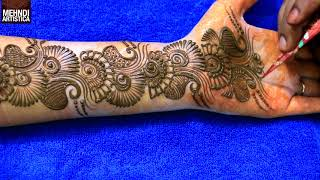 Learn Easiest Henna Mehndi Design | Step by Step Mehendi Designs for Hand | MehndiArtistica