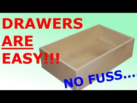 How to make Easy. Simple Drawers