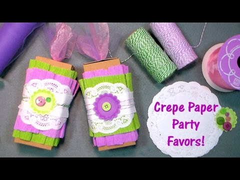 crepe paper party favors