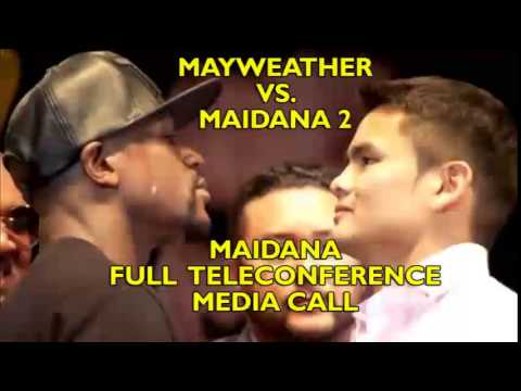 Marcos Maidana I hope Floyd doesnt run like a little bitch Full teleconference call