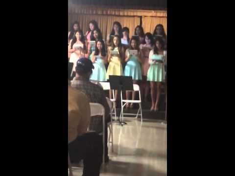 Alex's Spring Choir Recital - Holy Family High School - 05/16/2014