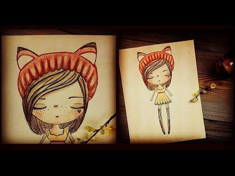 como dibujar con color ♥ kawaii miku