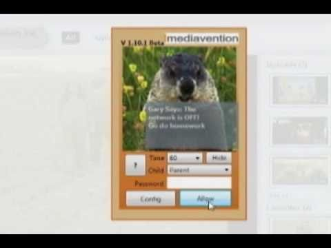 Child internet time limit software: Introduction to GroundHog from Mediavention.com